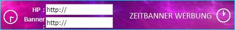 Zeitbanner Bannerwerbung