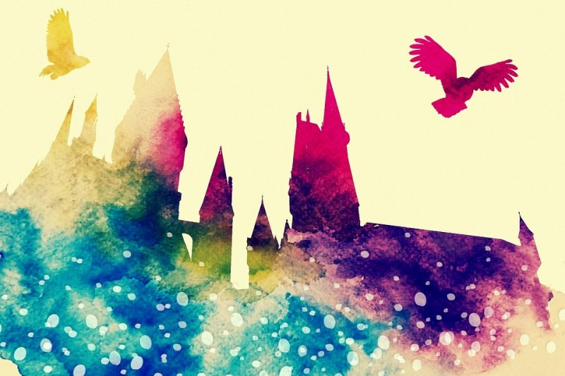 hogwarts castle colorful paint art with hedwig.jpg