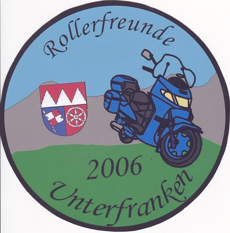 aufkleber mit logo rollerfreunde unterfranken