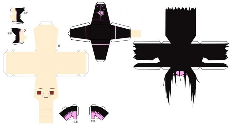 Papercraft: Itachi Uchiha (Naruto/Shippuuden) Pyjama