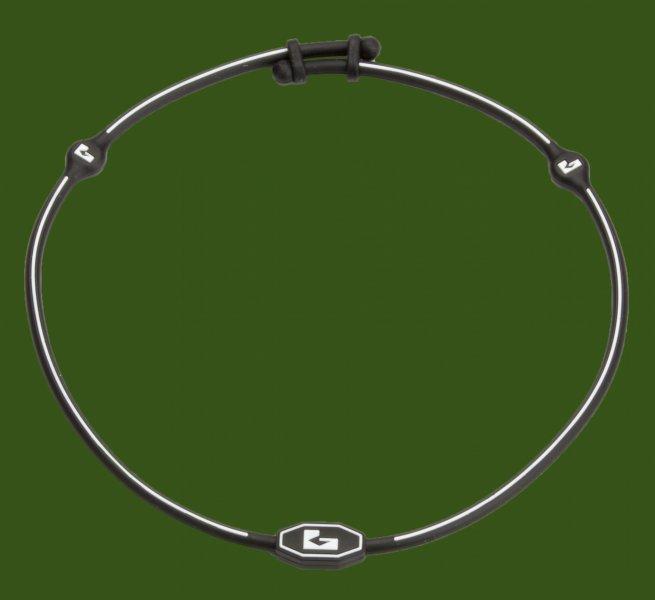 Grounded Silikon Halskette schwarz-weiß mit 3 eingearbeiteten Hologrammen.jpg