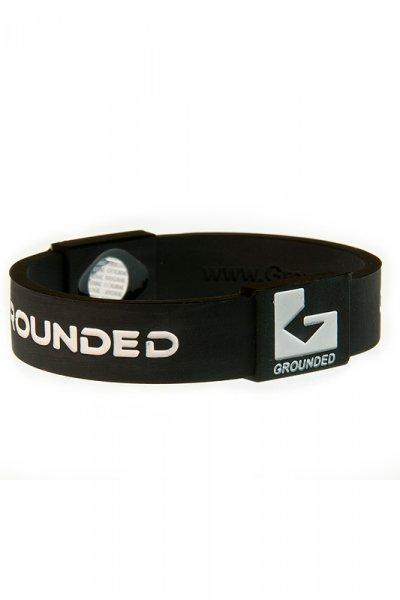 Grounded Silikon Armband schwarz-weiss mit 2 eingearbeiteten Hologrammen (2).jpg