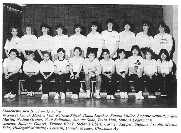 Maedchenturnen II 11-15 Jahre 86-87