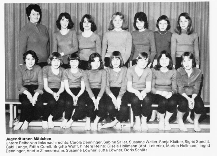 Jugendturnen Maedchen 76-77