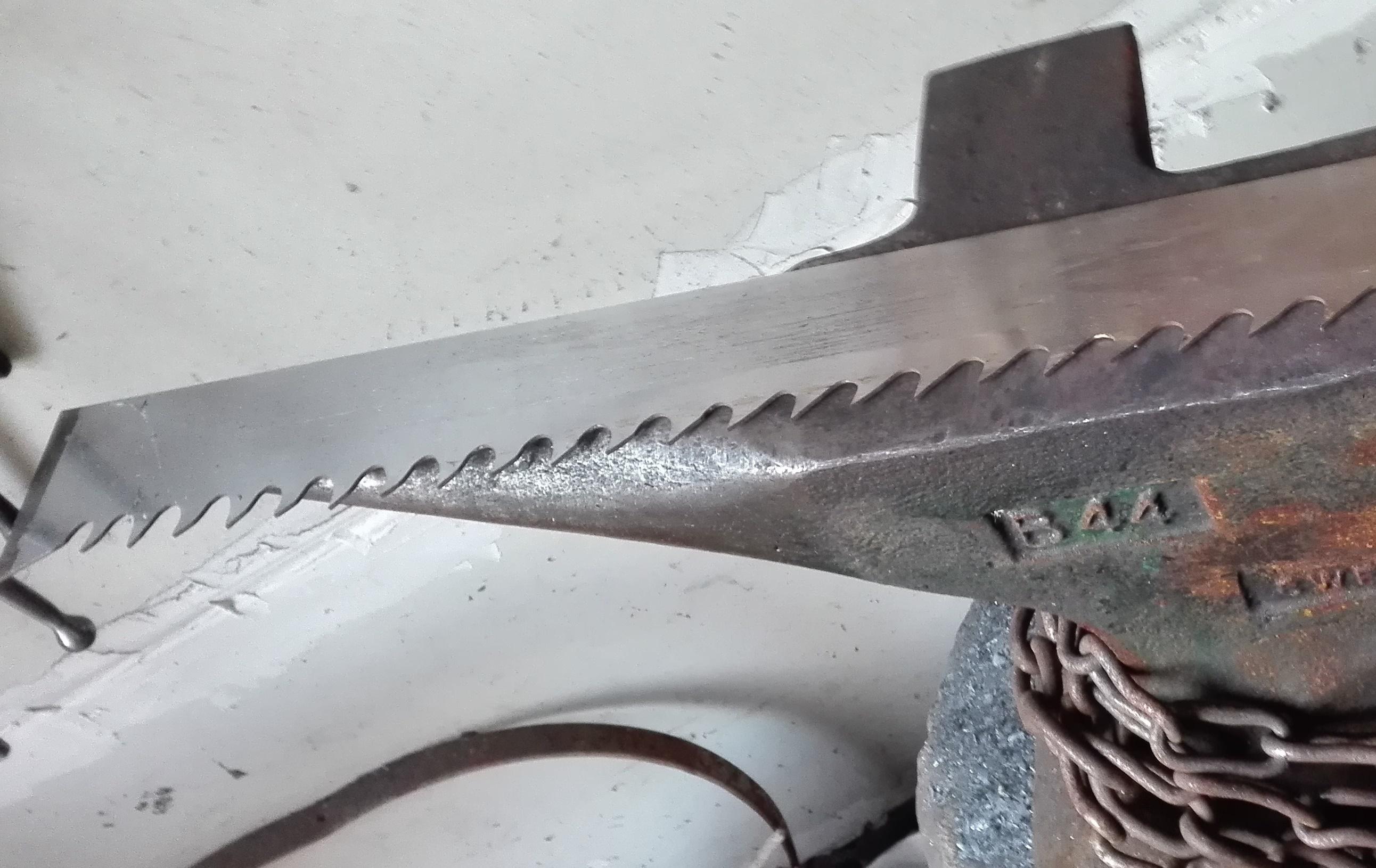 9 mal Gattersäge, eine Projektaufgabe - Schmiede das Eisen