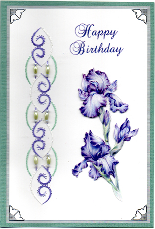 Blue Iris with stitched beaded border.jpg