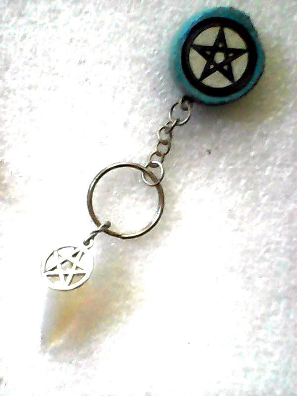Opalite Pendulum w Mahogany Pentacle Handle.